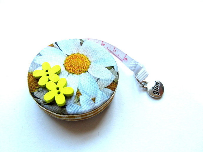 Retractable Tape Measure  Daisy Flowers Pocket Measuring Tape