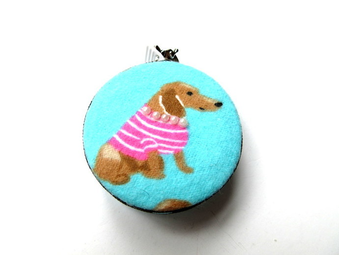 Measuring Tape Pink Sweater Dachshunds Retractable Tape Measure