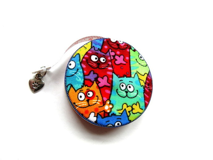 Tape Measure Rainbow Cats Retractable Measuring Tape