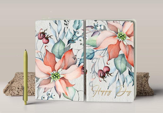 Happy Day – Poinsettia – Notebook