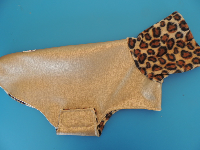 LARGE Vegan Leather Fleece Lined Cuddle Coat