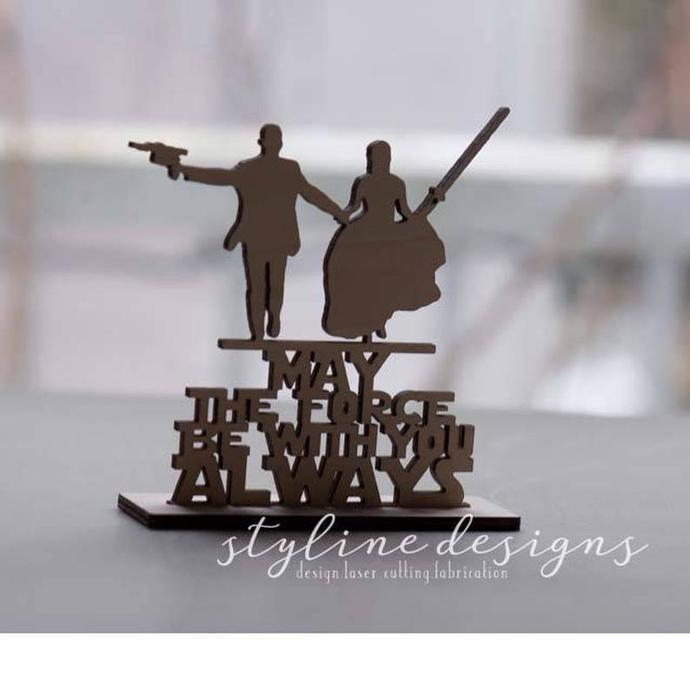 May the Force be With You Always Wedding Laser Cut Sign or Topper