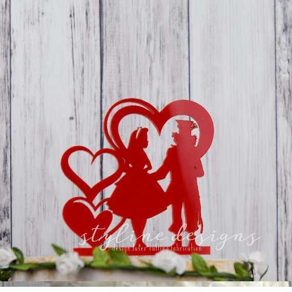 Couple in Love Romantic Wedding Laser Cut Sign or Topper