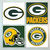 Green Bay Packers Coasters - set of 4 tile coasters - NFL, football, foot ball,