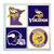Minnesota Vikings Coasters - set of 4 tile coasters - NFL, football, foot ball,