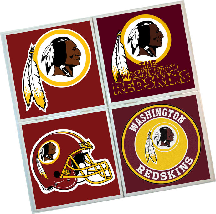 Washington Redskins Coasters - set of 4 tile coasters - NFL, football, foot