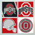 Ohio State Buckeyes Coasters - set of 4 tile coasters - college, football, foot
