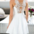 Sexy White Lace Short Party Dress, Simple Homecoming Dress