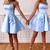 Stylish Straps Blue Satin Homecoming Dress, Sexy Mini Blue Short Party Dress