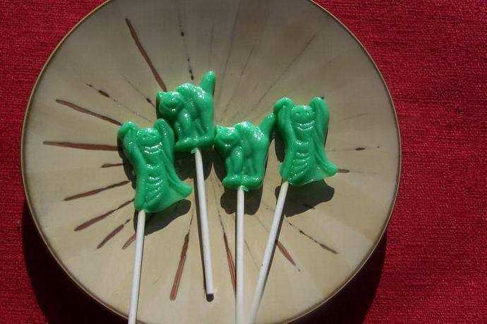 10 Ghost and Cat Halloween Lollipop Suckers Party Favor