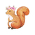 """Woodland Creatures Collection: Squirrel with Flowers Wall Decal - 8"""" tall x 8"""""""