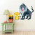 Baboon and Lion Cub - Set of 2 Decals - Safari Animals Series - Wall Decal -