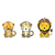 Cheetah, Leopard, and Lion Set - Set of 3 Decals - Safari Animals Series - Wall