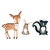 Deer, Hare, and Skunk Set - Set of 3 Decals - Safari Animals Series - Wall Decal