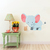 Elephant and Mouse Set - Set of 2 Decals - Safari Animals Series - Wall Decal -