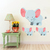 Elephant with Babies - Set of 3 Decals - Safari Animals Series - Wall Decal -