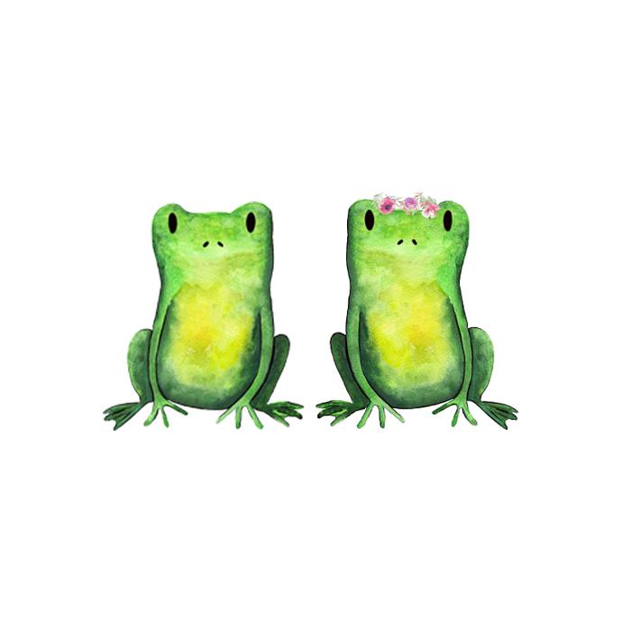 Frog Prince and Princess Set - Set of 2 Decals - Safari Animals Series - Wall