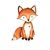 Leopard and Fox Set - Set of 2 Decals - Safari Animals Series - Wall Decal -