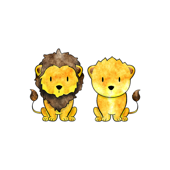 Lion and Lioness Pair - Set of 2 Decals - Safari Animals Series - Wall Decal -