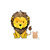 Lion and Mouse Set - Set of 2 Decals - Safari Animals Series - Wall Decal -