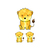 Lioness and Babies - Set of 3 Decals - Safari Animals Series - Wall Decal -