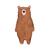Papa Bear, Mama Bear, Baby Bear - Set of 3 Decals - Safari Animals Series - Wall