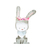 Rabbit Pair - Set of 2 Decals - Safari Animals Series - Wall Decal - Great For