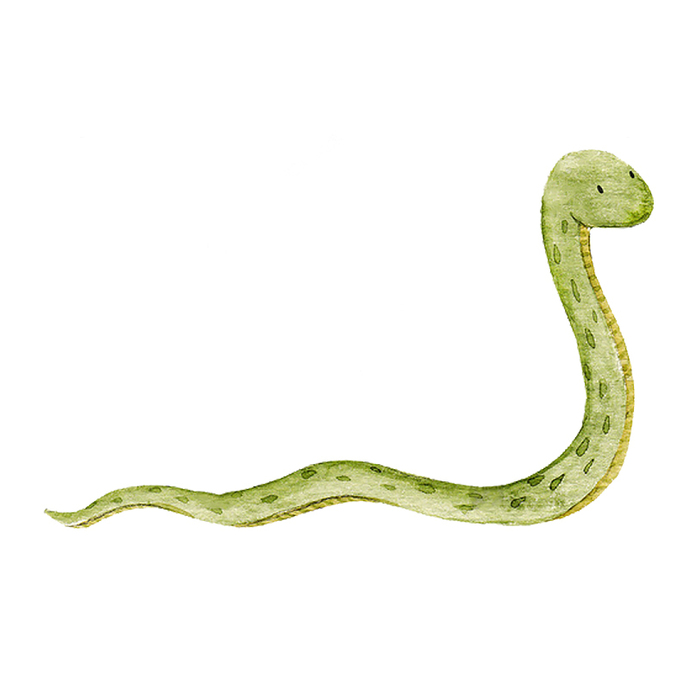 Snake Pair - Set of 2 Decals - Safari Animals Series - Wall Decal - Great For