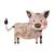Tree Stump, Boar, and Fox - Set of 3 Decals - Safari Animals Series - Wall Decal