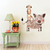 Warthog and Meerkat - Set of 2 Decals - Safari Animals Series - Wall Decal -