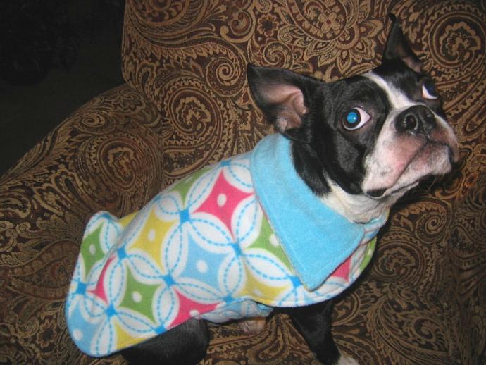 Pastel Diamonds Dog Coat Reversible Fleece