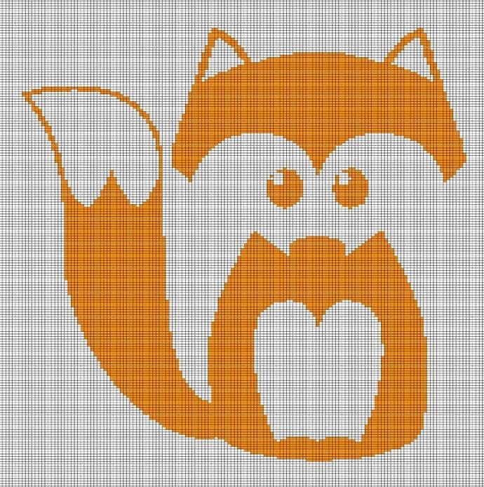 LITTLE FOX CROCHET AFGHAN PATTERN GRAPH