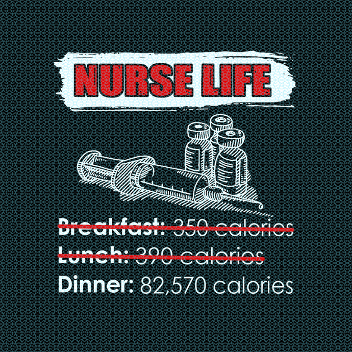 Nurse life Dinner with 82570 calories,  Nurse funny birthday gift, love