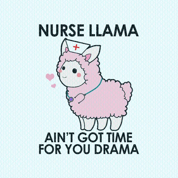 Burse Llama ain't got time for your drama,  Nurse funny birthday gift, love