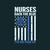 Nurses back the blue RN I've got your six,  Nurse funny birthday gift, love