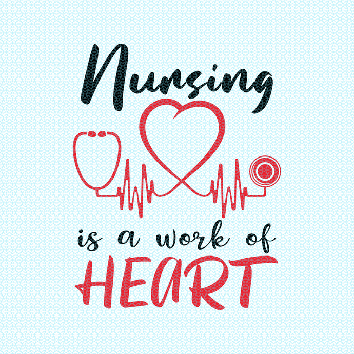 Nursing is a work of heart,  Nurse funny birthday gift, love nurselife, gift for