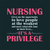Nursing Gives me the opportunity to love people at the weakest and,  Nurse funny