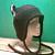 BLACK / Zebra print KITTY CAT AVIATOR eaflap hat