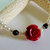 Rose and Pearl Choker or Anklet, Classic Style