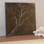 Small Copper Tree Painting, Original Art, Mixed Media Art, Acrylic 3D Relief