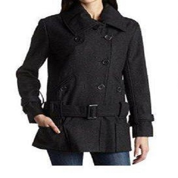Vintage womens Ladies coat peacoat wool jacket winter city parka girls winter