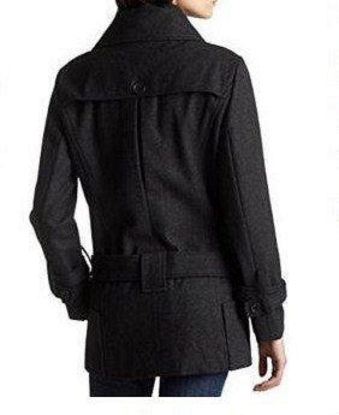 Vintage womens Ladies coat peacoat wool jacket winter city parka girls winter
