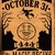 Primitive Halloween sign October 31 Magic Begins folk art moon witches