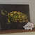 Turtle Mosaic Painting, Faux Stone Mixed Media Tile