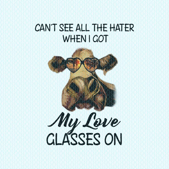 Can't see all the hater when I got my love glasses on, Not today Heifer, Heifer