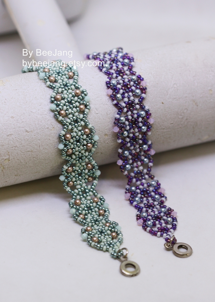 Beading Pattern, Cyrene Bracelet, Bracelet Tutorial, Digital Download, PDF