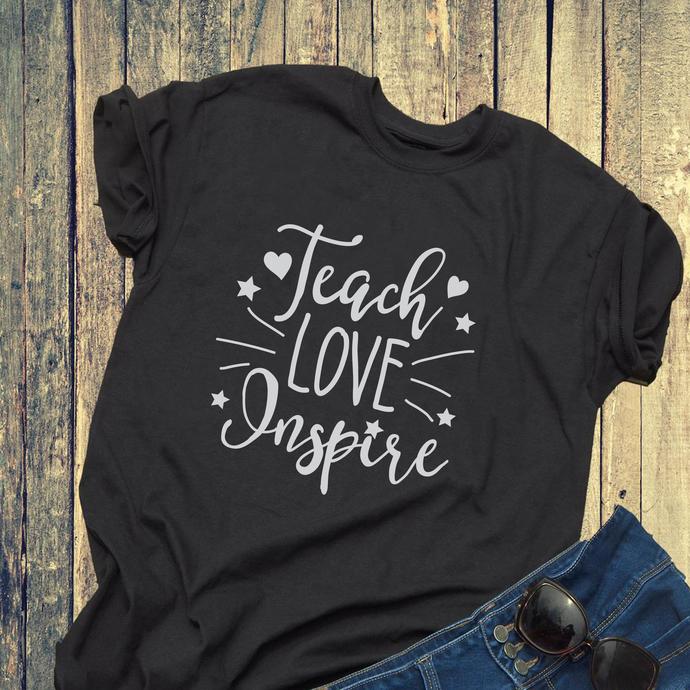 Teach love inspire svg, teacher svg, teacher gift, gift for teacher, teacher,