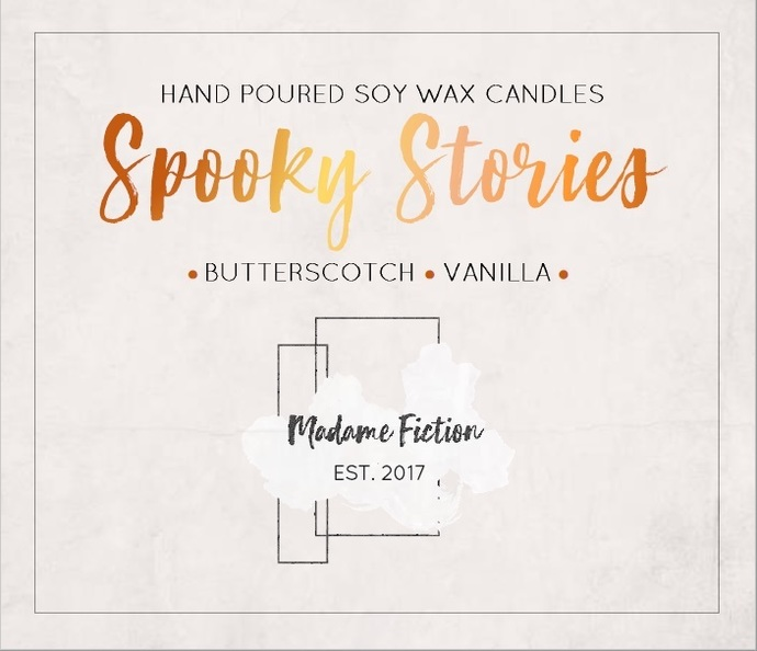Spooky Stories - 8oz Candle - Reading Inspired - Scented Soy Candle - Book Lover