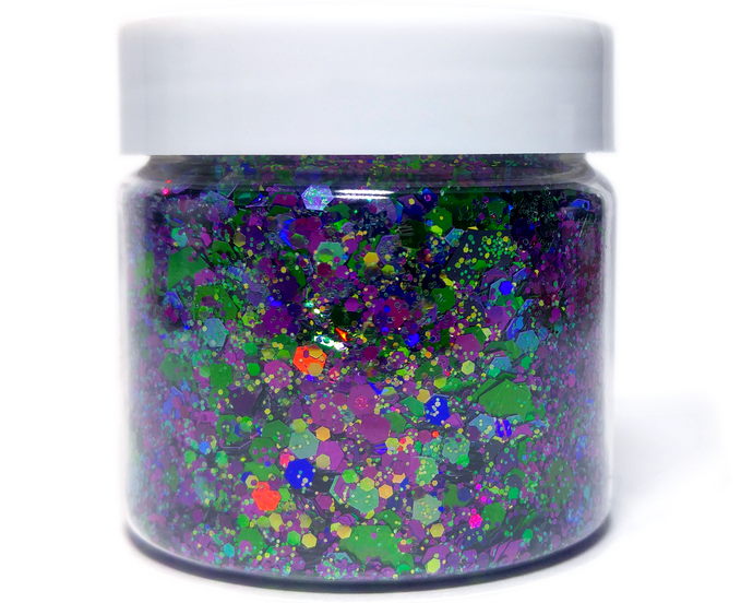 Toil and Trouble - Purple and Green Halloween Holographic Loose Cosmetic & Craft