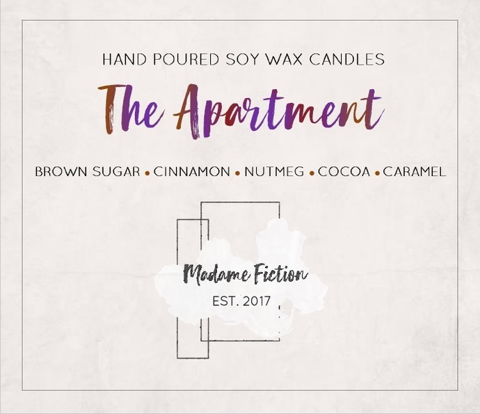The Apartment - 1.5oz Candle - Friends Inspired - Scented Soy Candle - Book